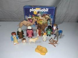 1999 Vintage Playmobil Nativity 3997 Christmas Playset Figures &  box - $14.24