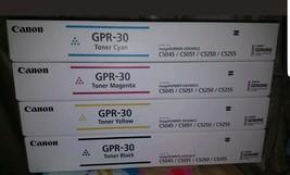 Genuine Canon GPR-30 Toner CMYK Full Set BRAND NEW IN BOX OEM SEALED *FR... - $204.77