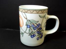 Dansk Fine china coffee mug Umbrian Fruits square handle 8 oz - $9.23