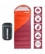 FUNDANGO Sleeping Bag with Compression Bag, Lightweight Waterproof Overs... - $47.99