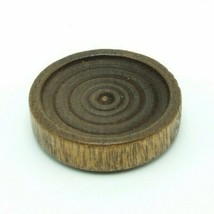 Cardinal Backgammon Chip Checker Brown Circles Replacement Game Part Wood 1 1/4 - $1.75