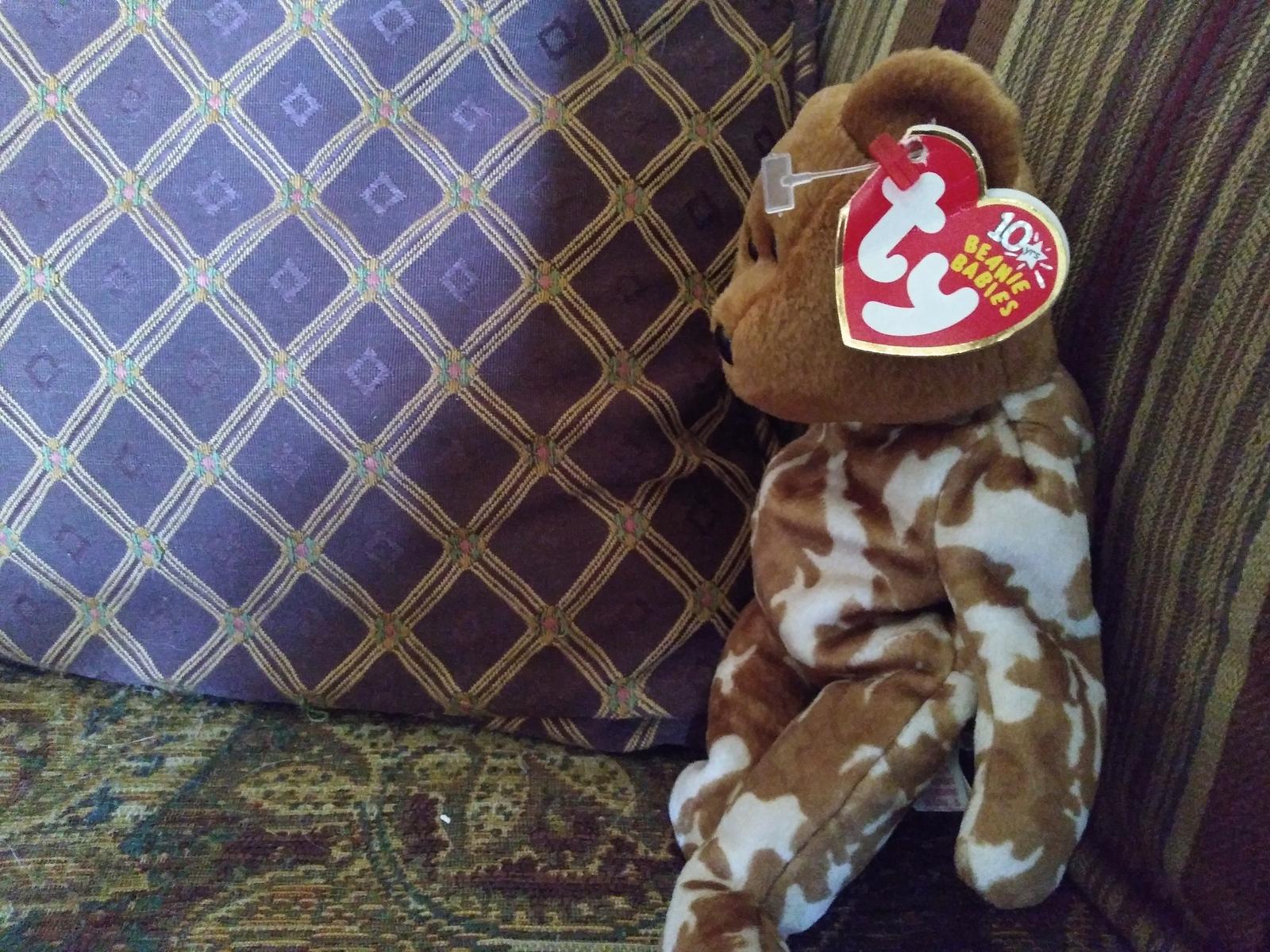 Ty Beanie Baby Hero Military UK Teddy Bear Stuffed Animal Plush image 4