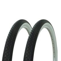 Brick Tread Tire  White Wall Set Beach Cruiser Bikes Bicycle Tires 26 X ... - €47,03 EUR
