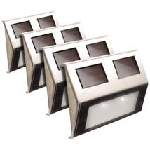 MAXSA Innovations 47334-SS Solar Deck Lights, 4 pk (Stainless Steel) - $46.57