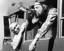 Slim Pickens Willie Nelson Drinking Whisky Bottle Honeysuckle Rose 16x20... - $69.99