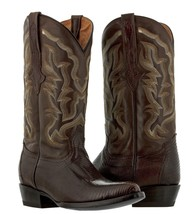 mens brown all real lizard armadillo skin leather western cowboy boots r... - €149,40 EUR