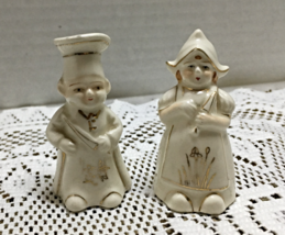 Vintage Miniature Mr. & Mrs. Chef Kitschy Salt & Pepper Shaker Set Made ... - $6.99