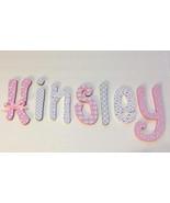 Wood Letters-Nursery Decor- Pink & Grey Elephants - Price Per Letter-Cus... - $12.50