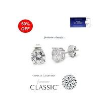 0.50 Carat Total Moissanite Forever Classic Stud Earrings (Charles & Col... - $65.00