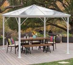 Hardtop Gazebo Aluminum Metal Pergola 10x10 Outdoor Garden Canopy Shade ... - $786.71