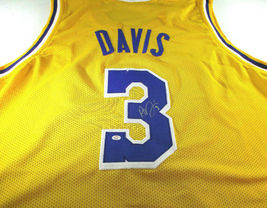 ANTHONY DAVIS / AUTOGRAPHED LOS ANGELES LAKERS YELLOW CUSTOM JERSEY / COA image 1
