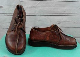 Dexter Women Size 6M Brown Leather Comfort Lace Up Oxford Shoe Walking Casual - $18.49