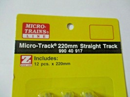 Micro-Trains Micro-Track # 99040917 220mm Straight Track, 12 Pieces, Z-Scale image 2