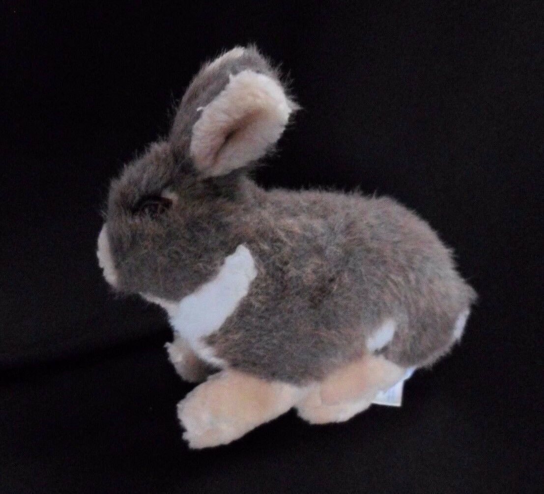 Primary image for Dan Brechner Plush BUNNY RABBIT Brown Tan White Stuffed Animal Vintage 8""