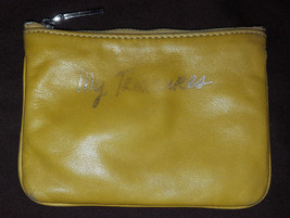 Rebecca Minkoff mustard yellow leather My Treasures Cory Cheeky pouch - $21.00