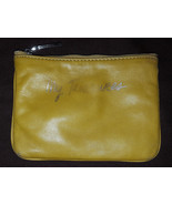 Rebecca Minkoff mustard yellow leather My Treasures Cory Cheeky pouch - $22.00