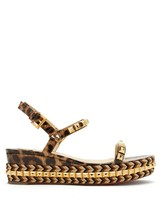 Christian Louboutin Panther Cataclou 60mm Platform Sandals New Authentic - $859.00