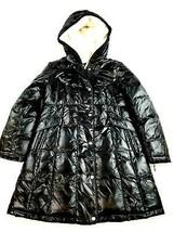 new Aspen women jacket parka down faux fur lined lacquer SA175 black sz L - $83.93