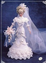 1996 Bride Doll Gown for Barbie Annie's Crochet Pattern Leaflet 30 Days ... - $6.27