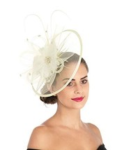 Lucky Leaf Women Trendy Fascinators Hair Clip Hairpin Hat Feather Cocktail Weddi