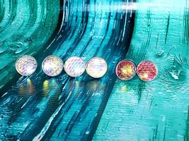 Mermaid Scale Fire Opal, Opal or Pink Stud Earrings - $7.00