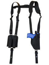NEW Barsony Vertical Shoulder Holster Dbl Mag Pouch Sig-Sauer Compact 9mm 40 45 - $58.99
