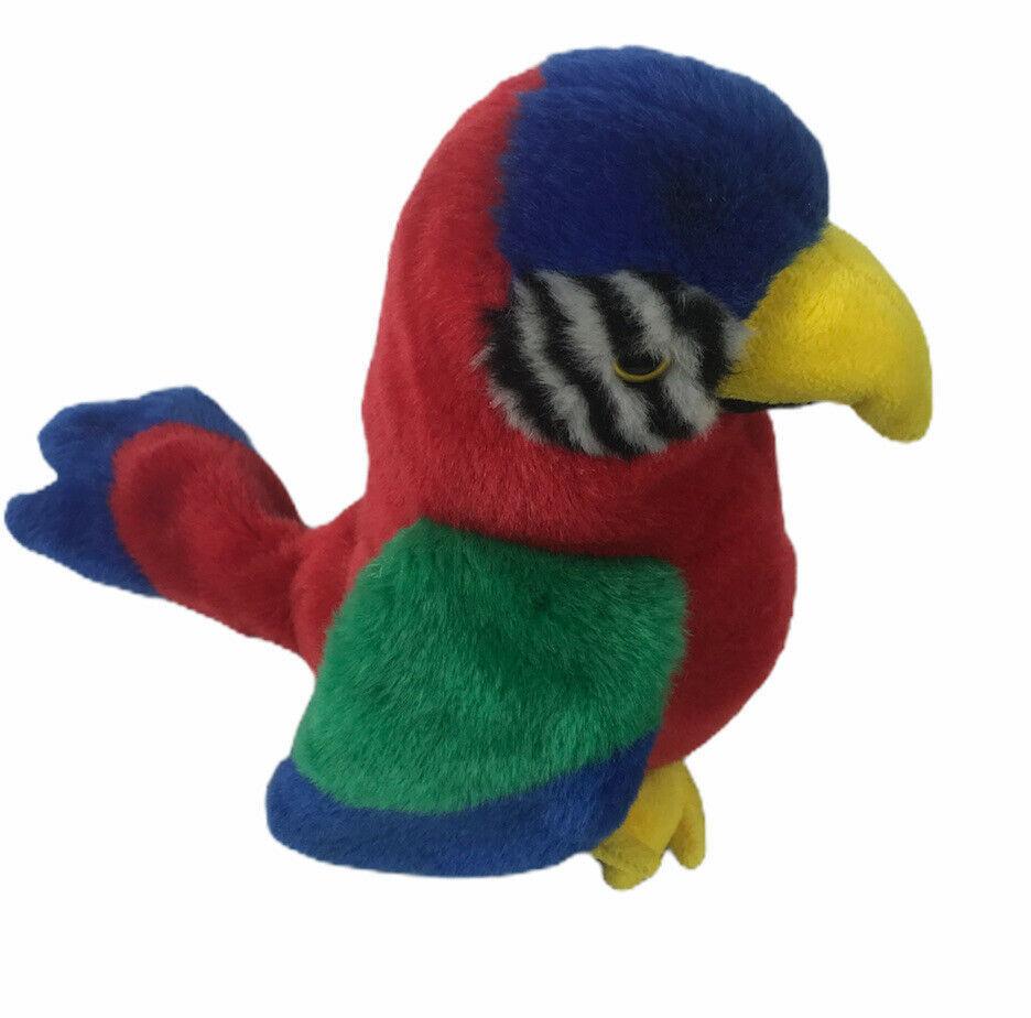 "Wild Republic Parrot Macaw 10"" Plush Red Multicolored - $18.00"