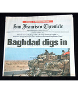 9/11 Iraq Guerra San Francisco Chronicle Marzo 25,2003 Baghdad Scava in ... - $39.58