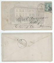 1888 Bradford PA Le Roy Kansas St James Hotel Advertising Cover! LeRoy KS - $17.99
