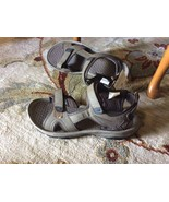 NEW Mens 13 KHOMBU Taupe Faux Leather Sandals Shoes  - $15.82
