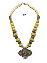 Tibetan Banjara Necklace Beaded Gypsy Resin Amber Tribal India Ethnic Je... - $14.50