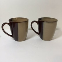 "2 Coffee Mugs Eclipse Brown Sango 4"" Tall - $14.50"