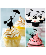 Ca452 Decorations cupcake toppers Mary Poppins Silhouette Package : 10 pcs - $10.00