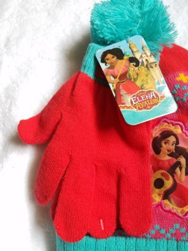 new product d1f55 39bf0 ELENA OF AVALOR Girls Winter Set HAT   GLOVES Cap Mittens DISNEY Princess  New