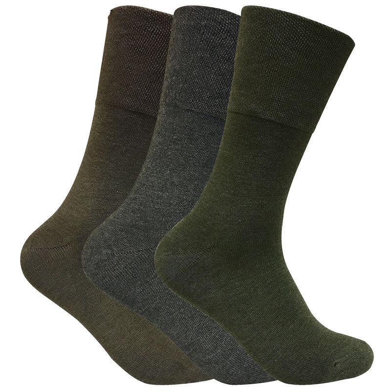 3 paires homme mince chaussettes chaudes thermiques diabetiques pour circulation