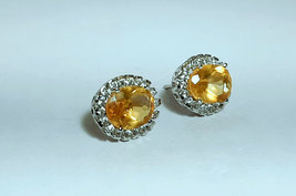 925 Sterling Silver Natural A+ Quality Citrine And Cz Gemstone Handcrafted Desig image 2