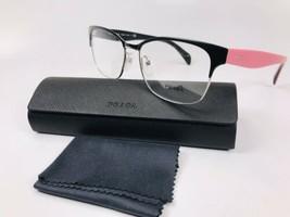 ✳New Prada VPR 65R 1BO-1O1 Matte Black & Pink Eyeglasses 55mm with Case - $108.90