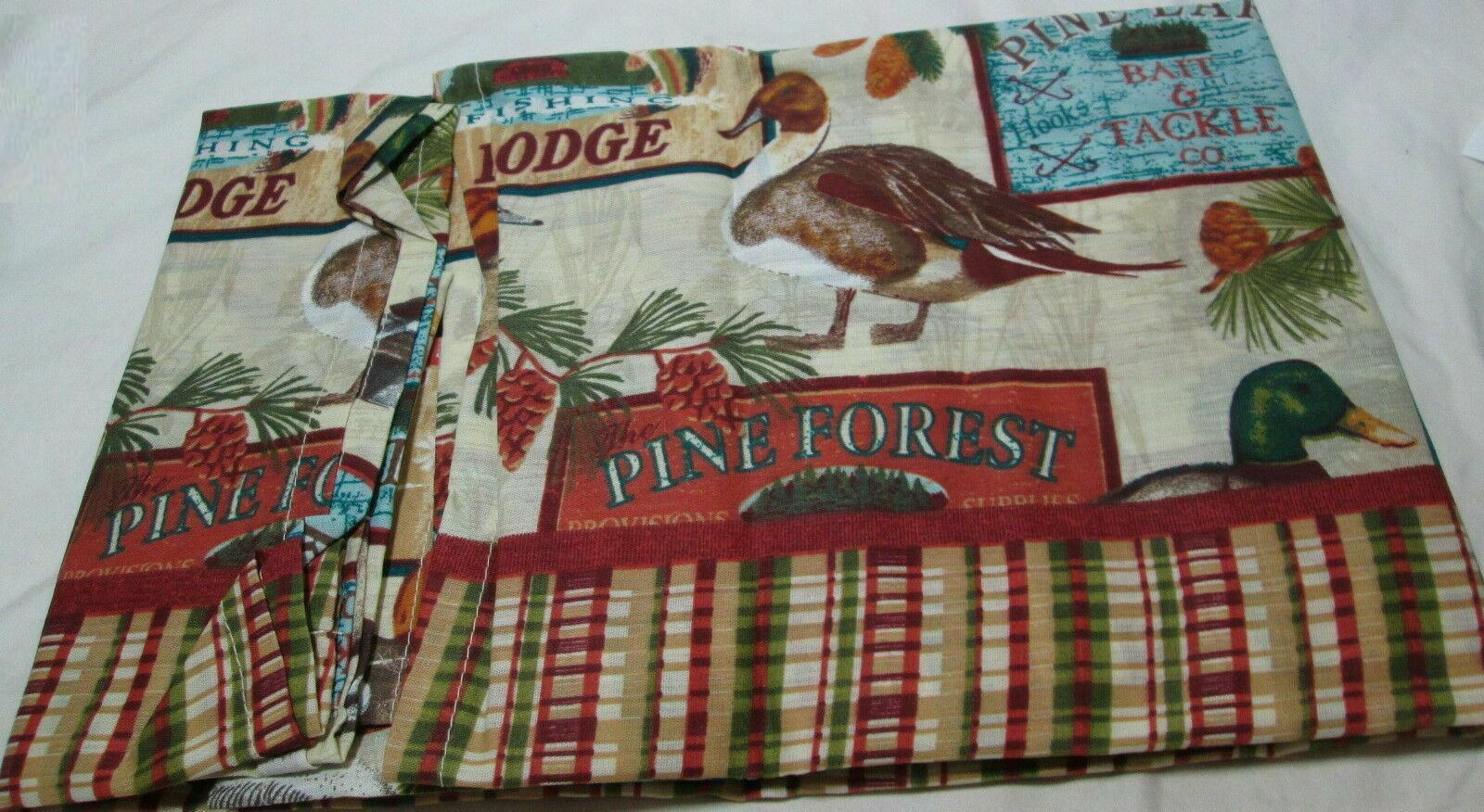 "Primary image for Small Windows Curtains Set:2 Tiers(29""x24"")& Valance(58""x14"") PINE LAKE LODGE,MS"