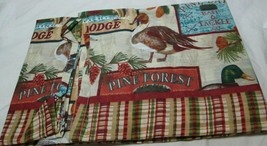 "Small Windows Curtains Set:2 Tiers(29""x24"")& Valance(58""x14"") PINE LAKE LODGE,MS - $19.79"