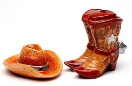 Cowboy Shoes And Hat  Salt & Pepper Shaker - $19.60
