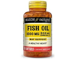 Mason FISH OIL 1000MG OMEGA-3 EPA/DHA Skin Joint Heart, 60 Softgels - $7.43