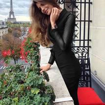 Women's Long Sleeve Mesh Polka Dots Solid Jumpsuit V Neck Wide Leg Pants image 7