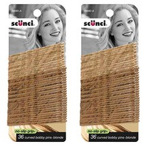 """Scunci No-Slip Grip Blonde Curved Bobby Pins 2.75"""", 36-Pieces per Pack, ... - $8.90"""