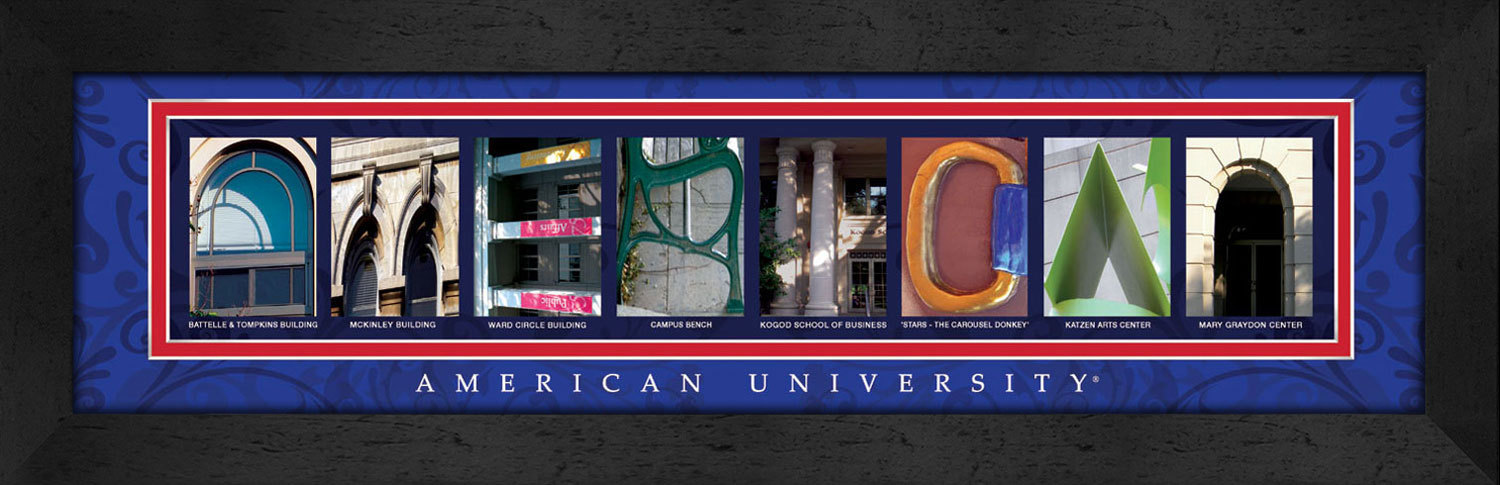 Primary image for American University Officially Licensed Framed Campus Letter Art