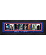 American University Officially Licensed Framed Campus Letter Art - $39.95