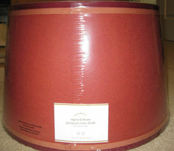 Pottery Barn Tapered Drum Lampshade Grosgrain Trim 13D Small Round Ribbo... - $49.00
