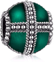 HQCROW 925 Sterling Silver Enamel Cross Vintage Charms Bead Fit European... - $69.20