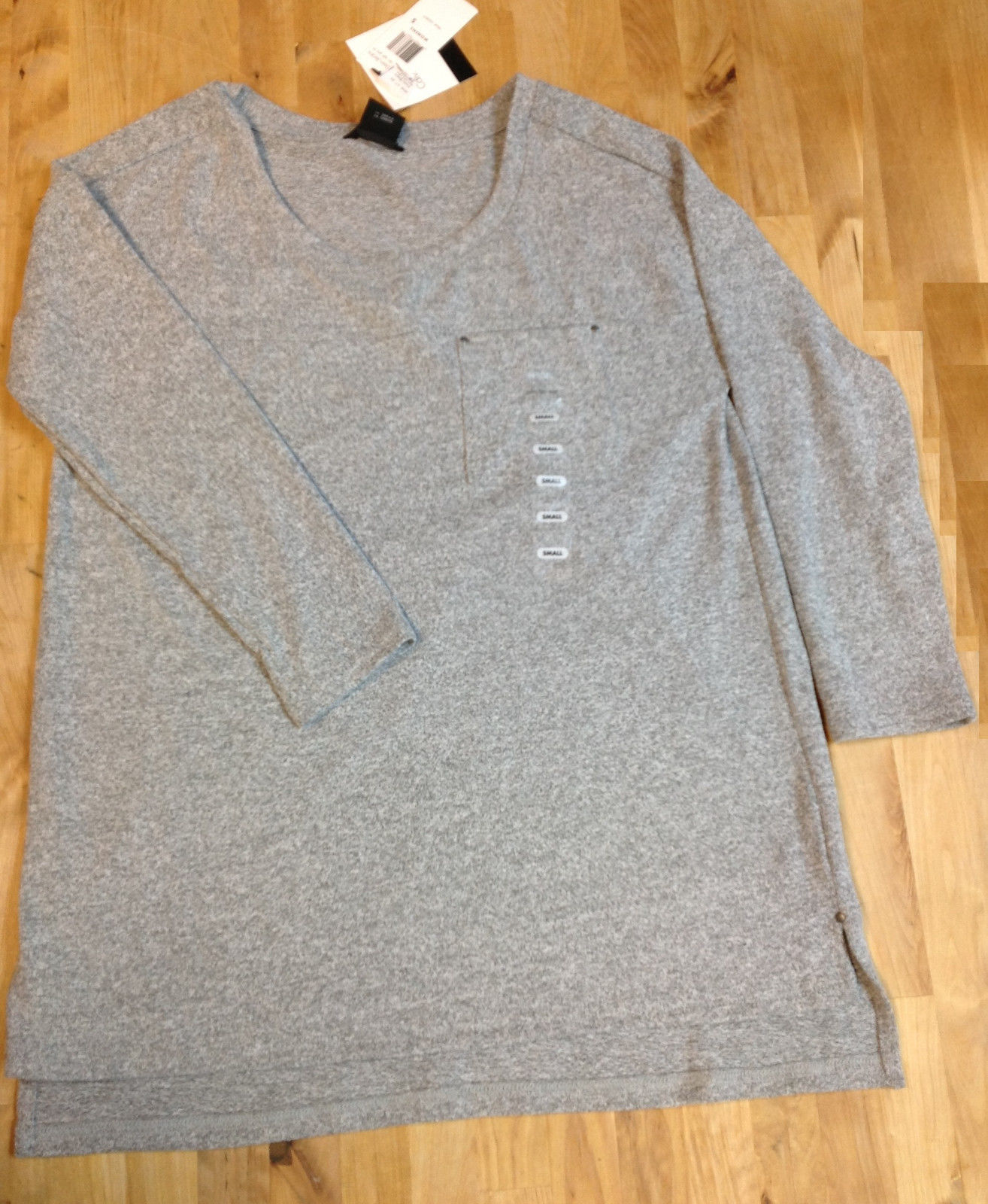 Calvin Klein Women Shirts, Light Gray Heather, Size S