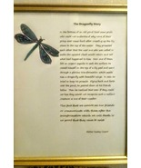 Framed The Dragonfly Story Condolence Gift - Dragonfly Grieving Gift - $12.99