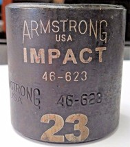 "Armstrong 46-623 3/8"" Drive 23mm 6 Point Impact Socket USA - $4.46"